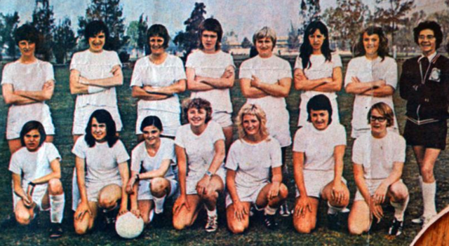 Almost half a century after playing in front of 90,000 fans at the Azteca Stadium in Mexico City at an early Women's World Cup, the 1971 unofficial England team are back together.We ❤ this story.➡https://bbc.in/2X1twqx #Lionesses #ENG #FIFAWWC