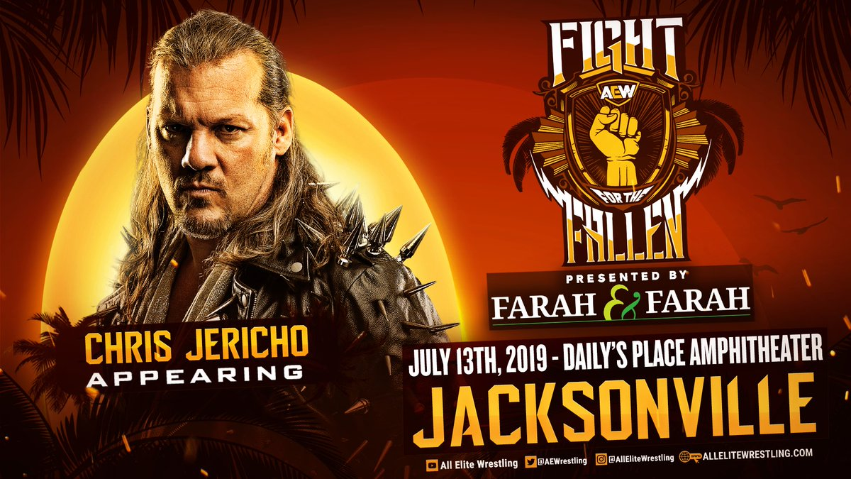 Chris Jericho Announced For AEW Fight For The Fallen
