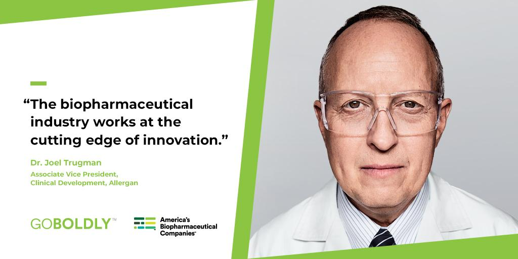 Joel from @Allergan is just one member of the biopharmaceutical industry discovering innovative treatments for migraine patients that reduce the severity, length and frequency of migraine attacks. #GoBoldly http://bit.ly/2X0Vzqk