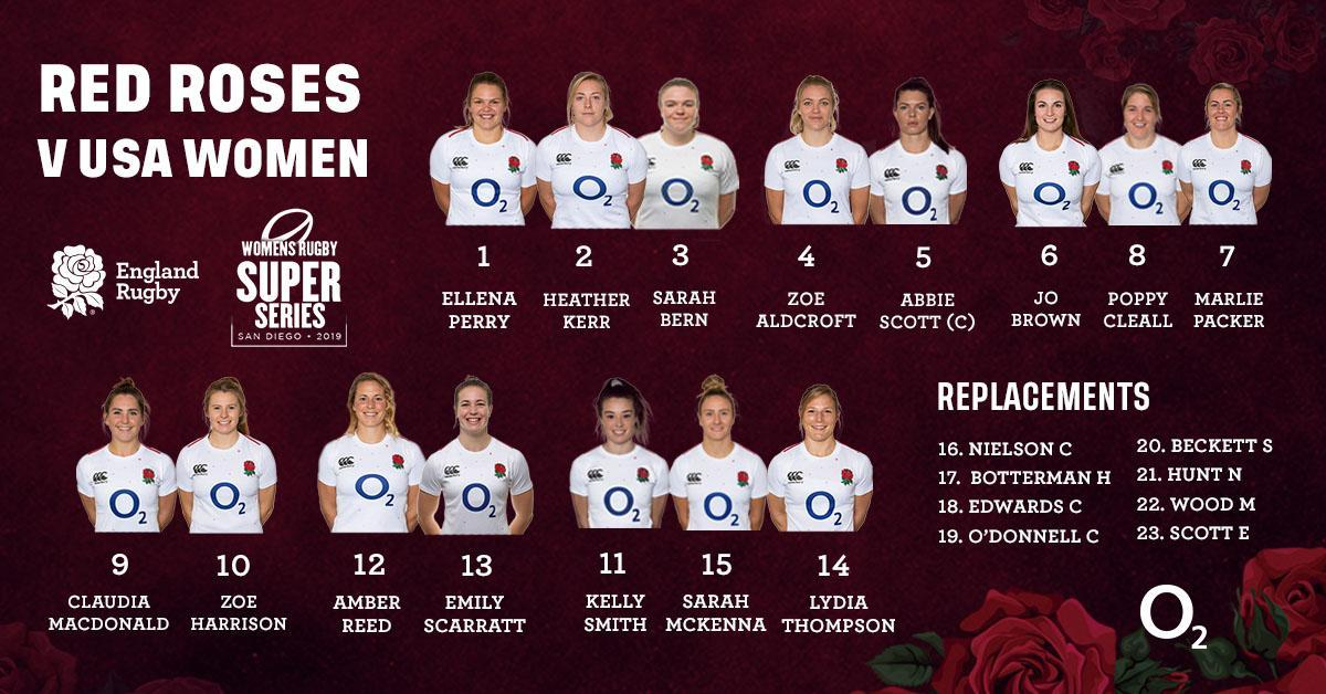 test Twitter Media - Your #RedRoses squad to face @USARugby, LIVE on @SkySports at 21:00 BST this Friday 🌹  Preview ➡ https://t.co/1wv9h2dPZv https://t.co/uGNHUHW5CN
