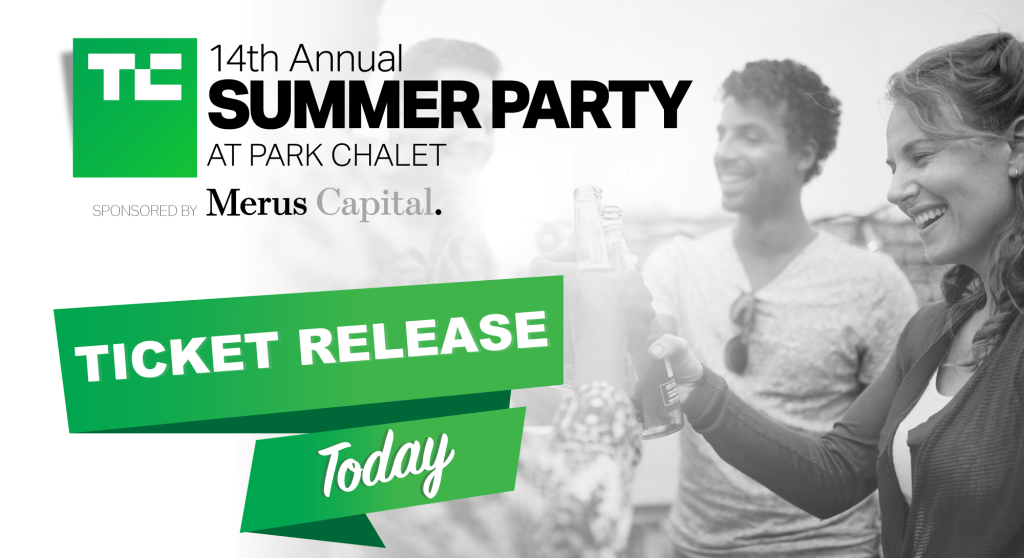 New tickets available to the 14th Annual TechCrunch Summer Party https://tcrn.ch/2JeK49Y