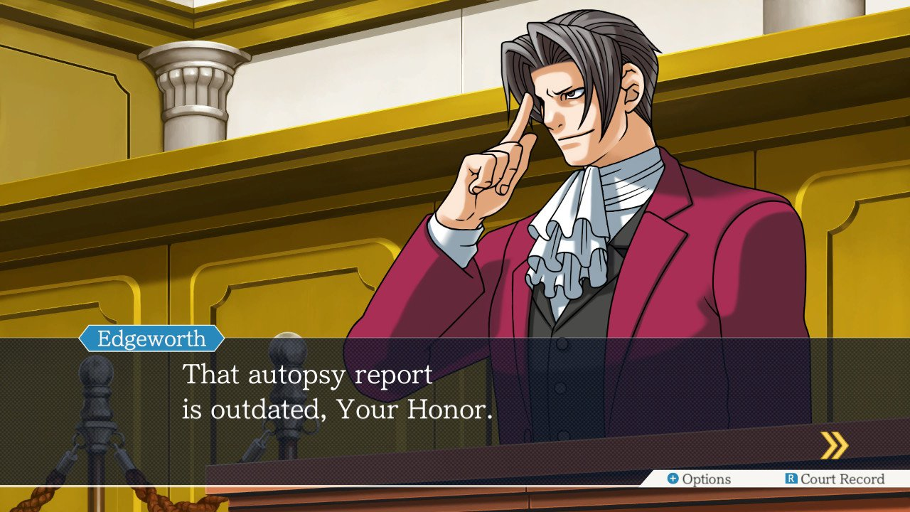 Ace Attorney On Twitter When The Autopsy Report Is Outdated