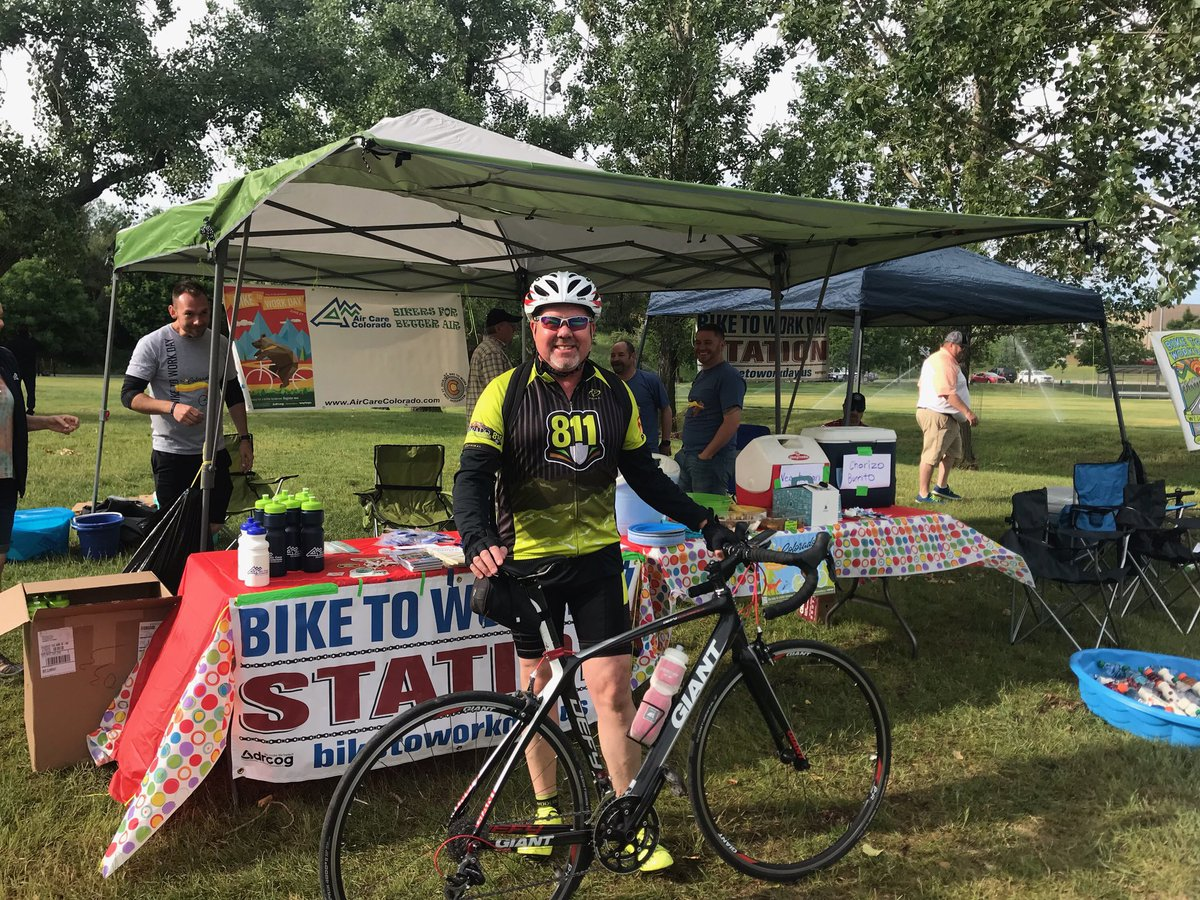 It's bike to work day! Marty Mead, Colorado 811 Director of Damage Prevention joined the fellow…