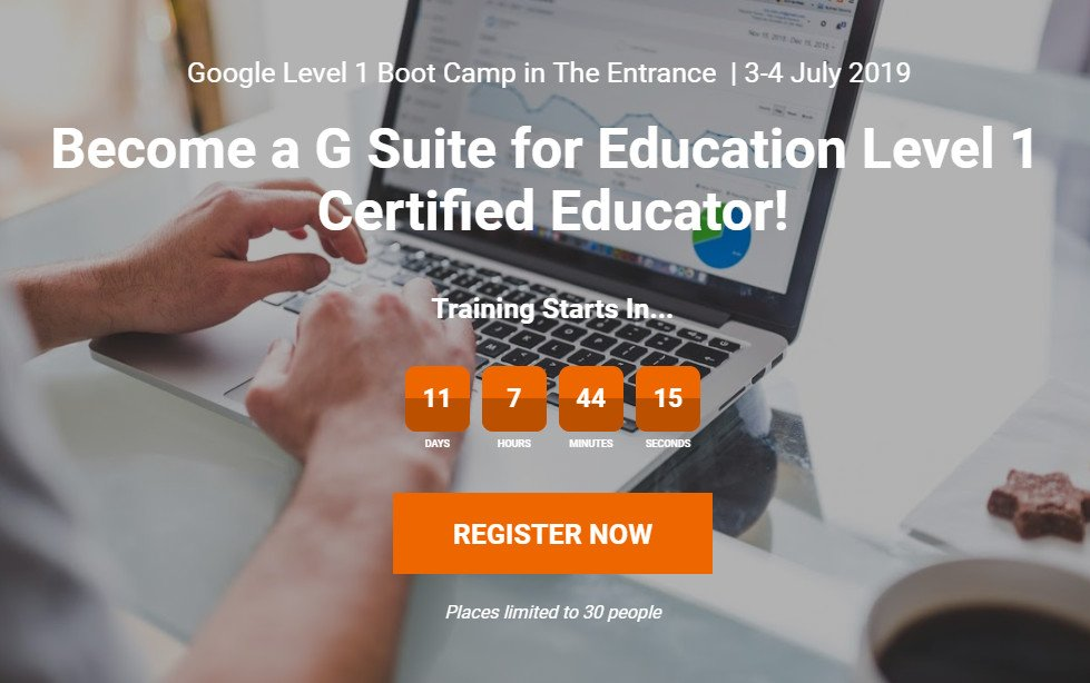 Register now and gain the knowledge and skills needed to successfully pass the #Google Certified Educator Level 1 exam on 3-4 July w/ @Samvardanega. 👌  Register ➡ https://utb.fyi/gbc-3-4-july-2019 …  #utbPD #utbSTEAM #utb #GSuiteEDU #gafe #googleEDU #googleforEDU  Don't forget to share! 🔥
