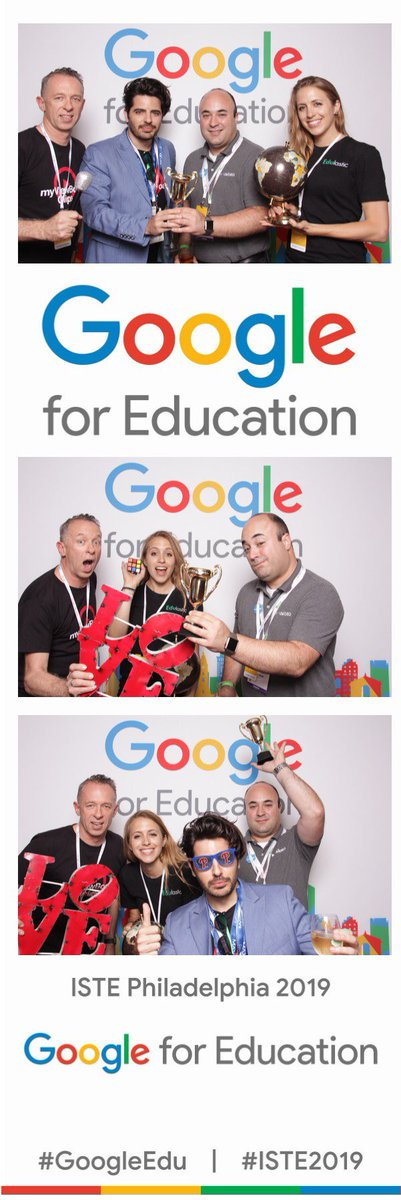 One more photo booth photo with new friends at @WeVideo and @ViewSonic during the @GoogleForEdu event.   Again, #1 rule of photo booths = throw any ounce of seriousness out the window.   #iste19 #iste2019 #googleedu @Edulastic #appsmash #edtech #phillyedu