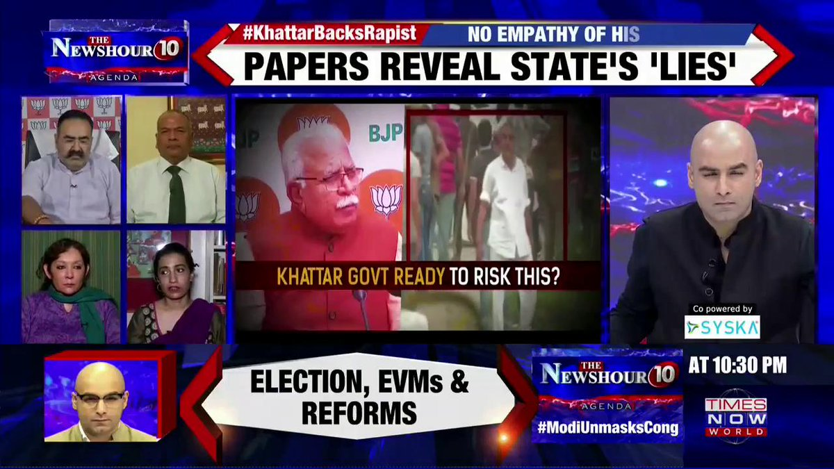 Some people are confused with the two things. One is extremity of the nature of the crime and the tendency to commit crime: @karunanundy, Advocate, tells #AtharKhan on @thenewshour AGENDA.   #KhattarBacksRapist