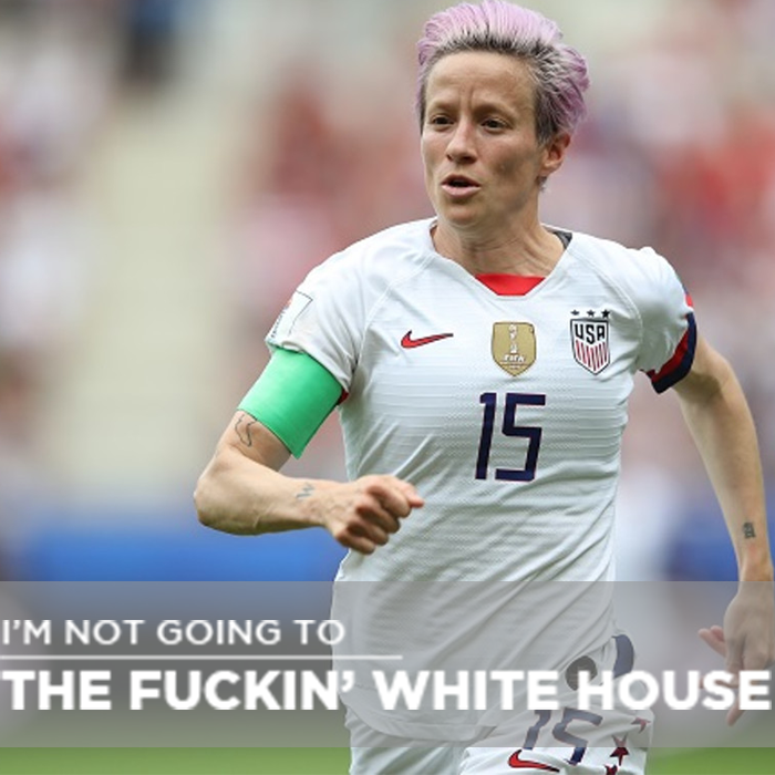 #WCW Megan Rapinoe is an American Hero Wishing the #USWNT luck against France later this week.  @mPinoe