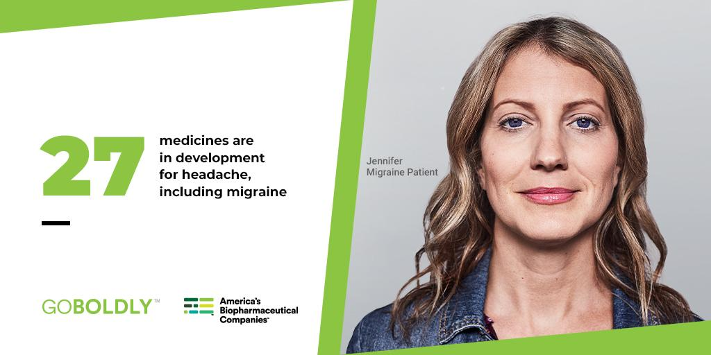Jennifer used to spend nearly two weeks each month living with debilitating migraine, often missing work. Thanks to biopharmaceutical researchers like Joel, that's no longer the case, as advancements continue through clinical trials and new treatments. http://bit.ly/2LkymNy