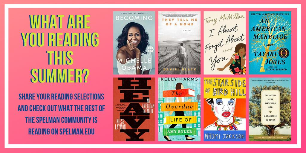 For members of the Spelman College community, summer marks the perfect time to catch up on reading for work and pleasure. Take a look at what we're reading and submit your selection to be included on http://Spelman.edu here: http://bit.ly/SpelSummRead