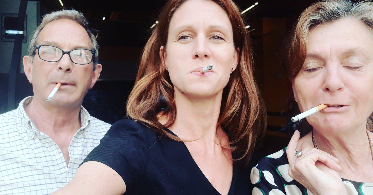 Les badass ! #myboss  (Non, je ne fume pas, c'est pour la pause !)  #CNDCAngers @CNDCAngers – at Théatre Le Quai