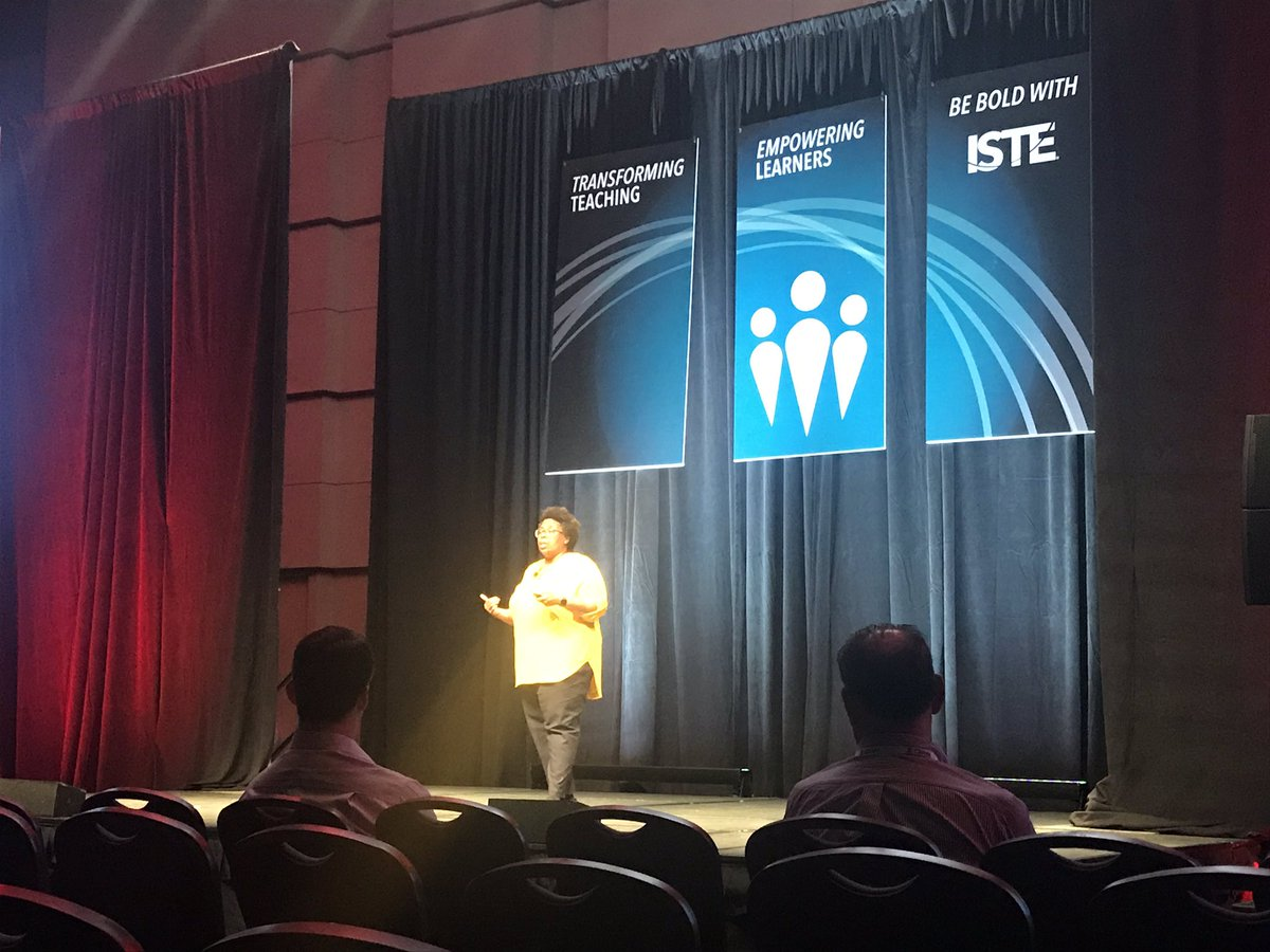 @EdumatchBooks author @MsFagin sharing powerful stories in the TED Talk MasterClass at #ISTE19.