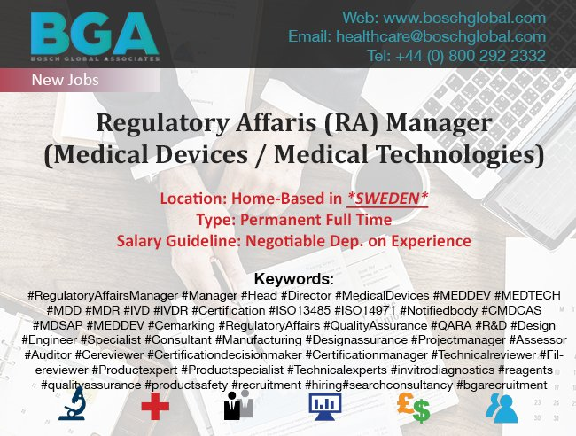 regulatoryaffairsmanager hashtag on Twitter