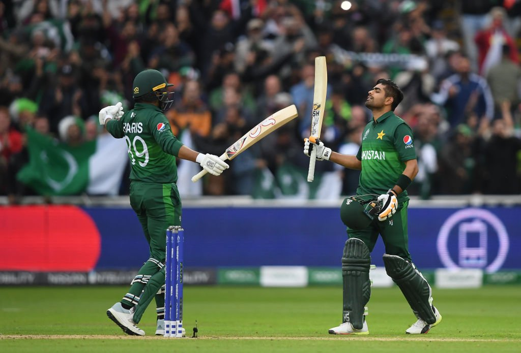 Babar Azam's hundred is Pakistan's first World Cup century scored by a non-opening batsman since...1987!#CWC19 | #NZvPAK | #WeHaveWeWill