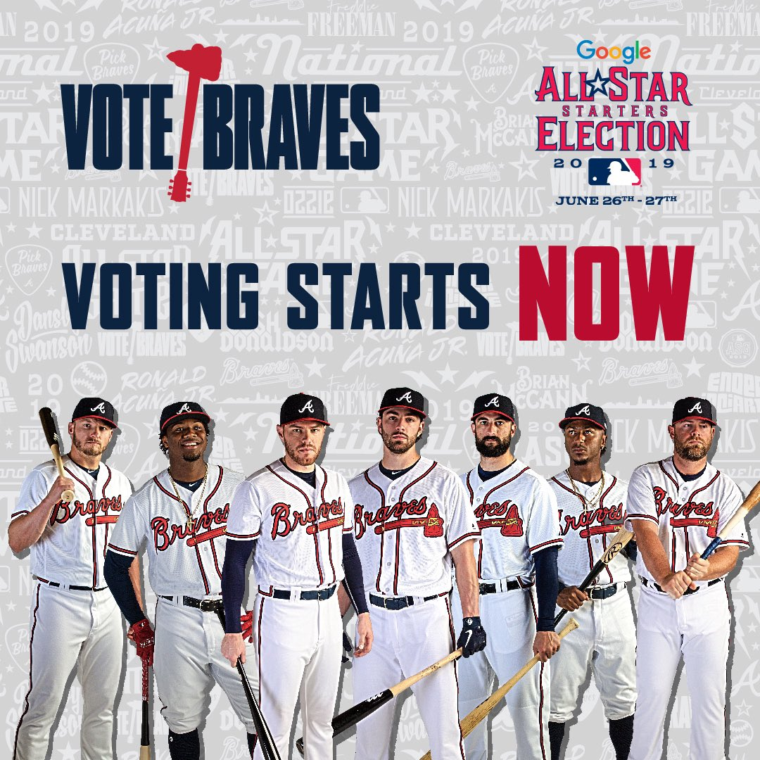 Let's go @Braves country!! Let's get these guys in!!
