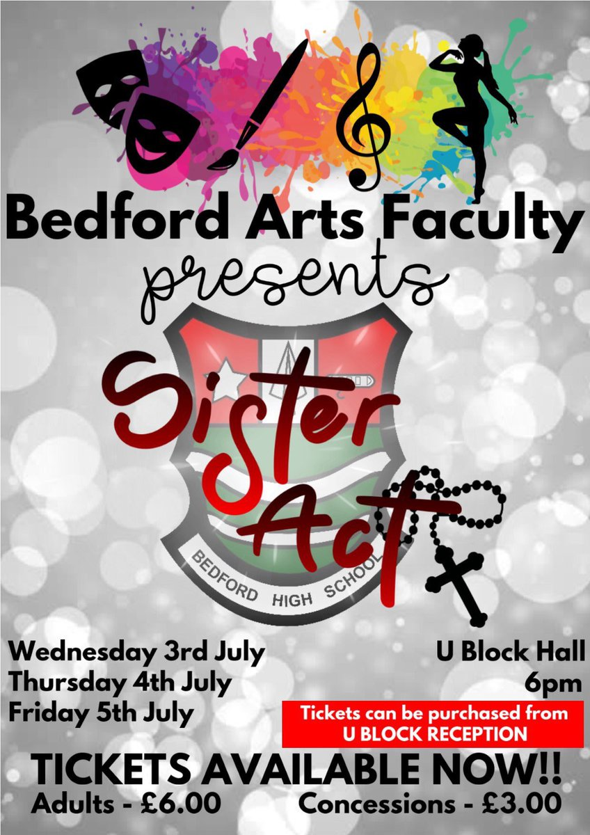 Check out our Sister Act competition on our Instagram page @bedfordarts