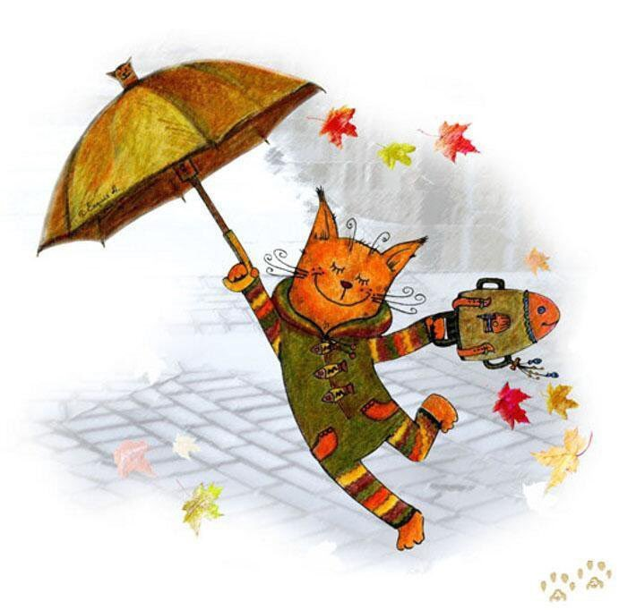 Осень рисунки прикольные, мышей