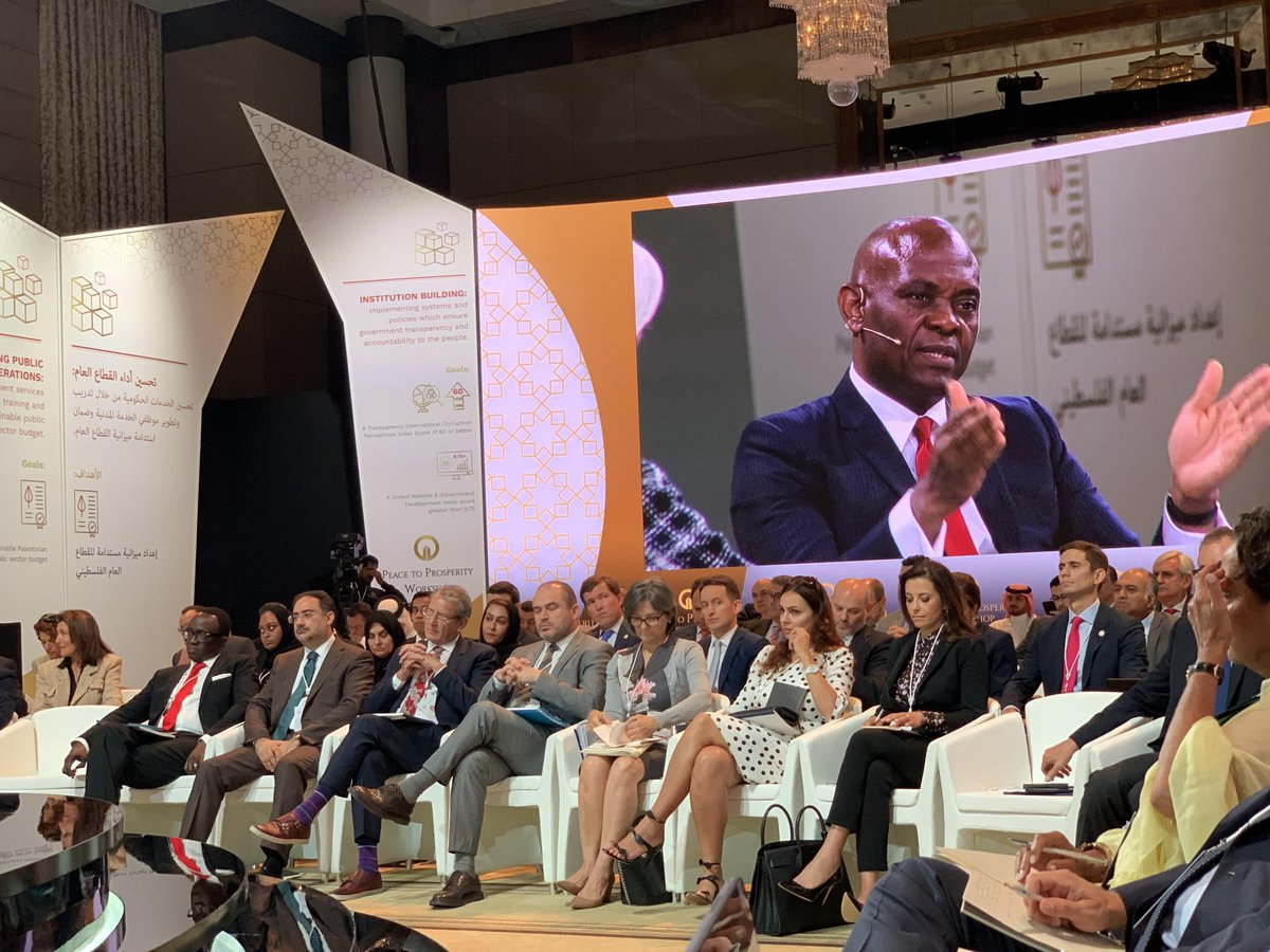 "#ICYMI: Founder, @TonyOElumelu joined other world leaders in #Bahrain, for the #PeaceToProsperity Workshop on a panel session themed, ""Unleashing Economic Potential"". Watch the full session here https://www.youtube.com/watch?v=bf_Lj_eivCo&feature=youtu.be …"