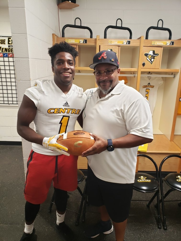 "Thank you all for the awesome visit at Centre College! @CoachAndyFrye @ShomariWhite73  ""Football is like a debit card. You have to make a deposit before you can make a withdraw."" - @QBCoachFox   ⬆️I really appreciate you for the invite and an outstanding quote to keep with me."