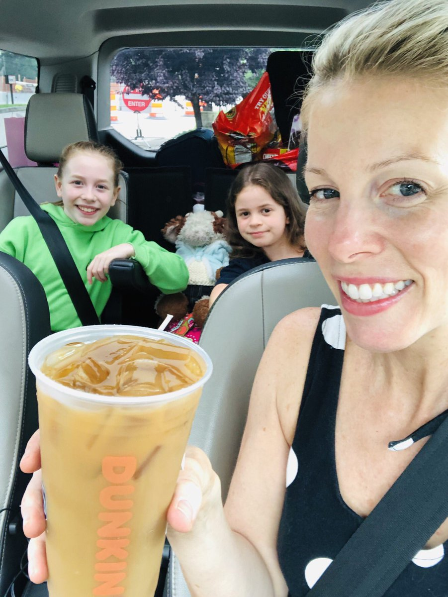 Can't do a long road trip without a short road trip..... to @DunkinProv #icedcoffee #VirginiaBeach #pvdtovb