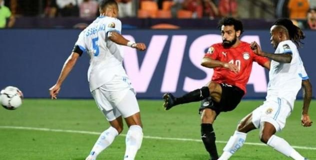 Mohamed Salah made one and scored one as hosts Egypt beat DR Congo to move into the last 16 of the Africa Cup of Nations.Full report ➡https://bbc.in/31SqI2K #AFCON19 #BBCAFCON