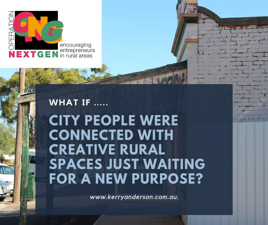 THURSDAY THOUGHT: What is your rural town doing to attract new people to fill empty spaces? #entrepreneurs #socialenterprise