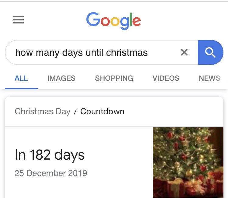 How Many Days Till Christmas Google.Fpl Partridge On Twitter Don T Ask Why I Googled This