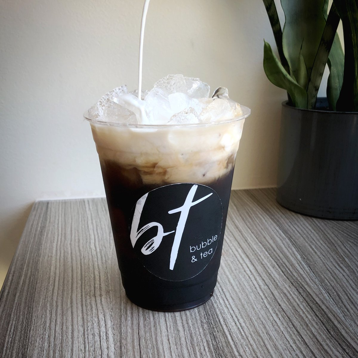 Cheers! 😁To being halfway through the week! #BubbleandTea #IcedCoffee . . . . #coffee #happy #milk #slush #smoothie #fresh #food #lafoodie #eeeeeats #foodie #nomnomnom #fresh #drinks #boba #dessert #bubblewaffle #sweet #arcadia