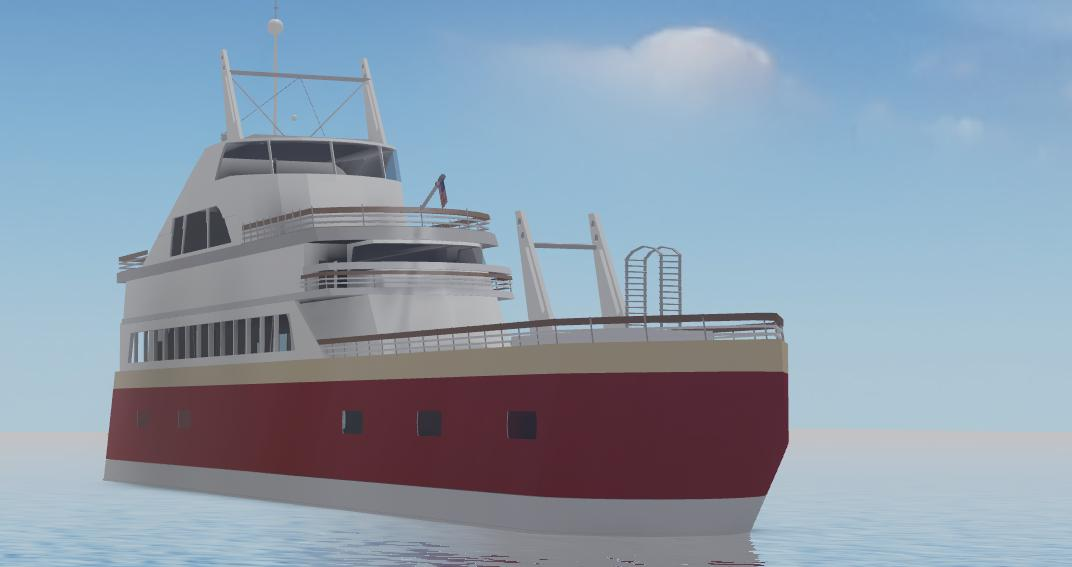 FOR SALE 💸  MASSIVE luxury super-yacht 🛥️  Includes:  - Two big sundecks ☀️ - 6 decks 🏙️ - Various spaces for bedrooms and other things 🛌  SPECIAL PRICE: Just 1000 ROBUX! (Group funds only) 🤯  *no interior, illimited copies  #Roblox #RobloxDev