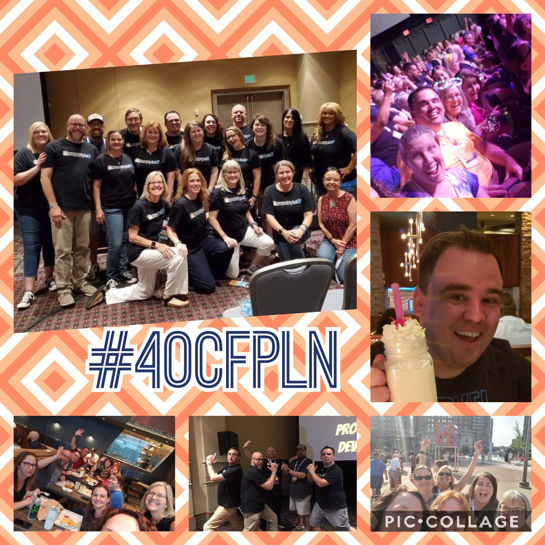4 days. 18 friends from 10 states. Hundreds of memories. This was #ISTE19 with my #40CFpln 💕🤗