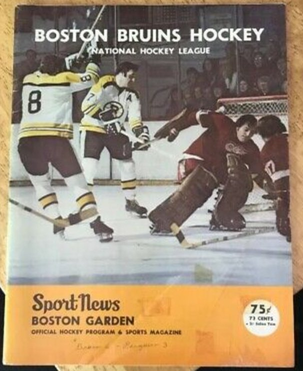 #goaliesrule Random #Hockey thoughts...🏒#BostonBruins photographer had the same seat from 1971 to 1973.