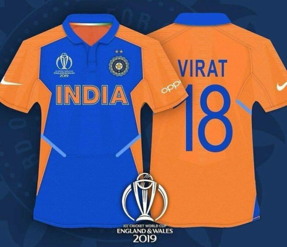 Indian players will wear their away kit in the match against England on June 30.. Colour stands for Strength and Courage 🇮🇳❤️#INDvWI