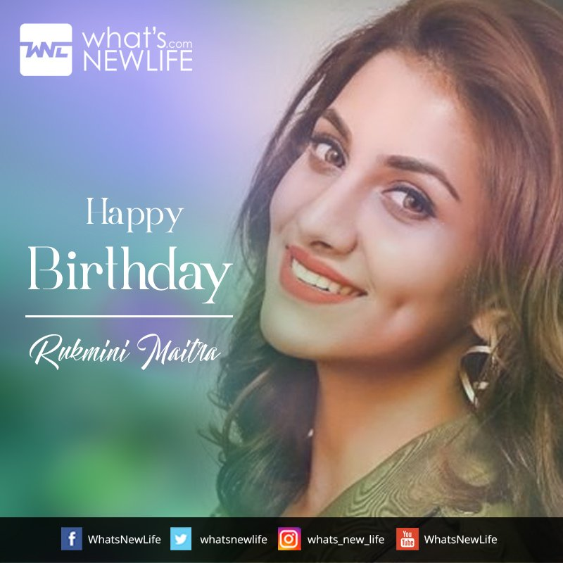 What's New Life wishes to gorgeous and talented actress in the Bengali Film Industry Rukmini Maitra very happy birthday. #WNLWishes #happyBirthDay #BengaliActress #HappyBirthDayRukmini