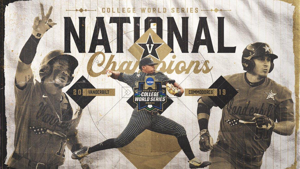 NATIONAL CHAMPS! Congratulations to Vanderbilt Baseball!