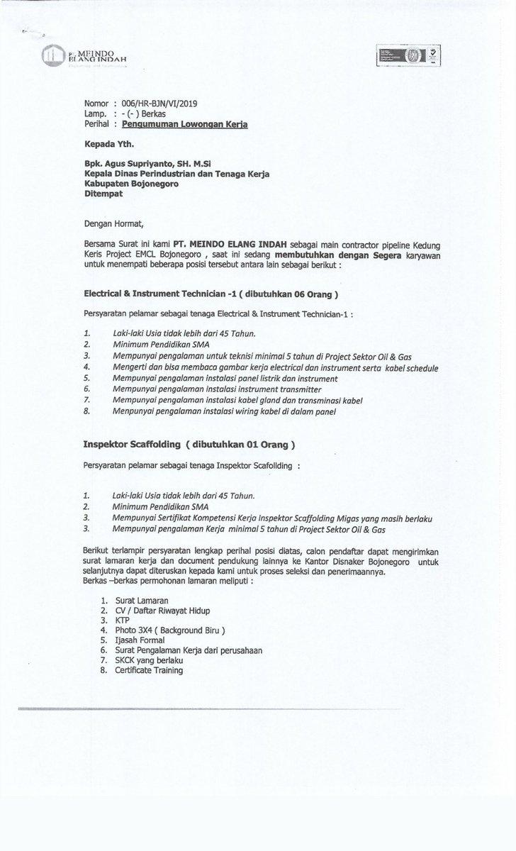 Surat Lamaran Kerja Pt Pungkook