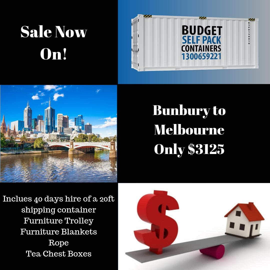 Bunbury #Removalists Sale Now On! Right now, all of our move out of Bunbury are discounted. We have empty container stock to move out of #SouthWestWA so it's a great time to #moveinterstate at a low price. Call today for an obligation free quote! https://bit.ly/2XcIsHm #bunbury