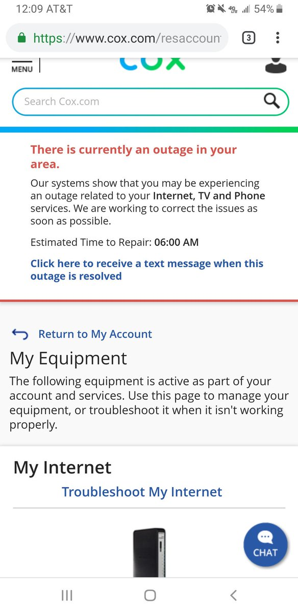 Cox outage 92056