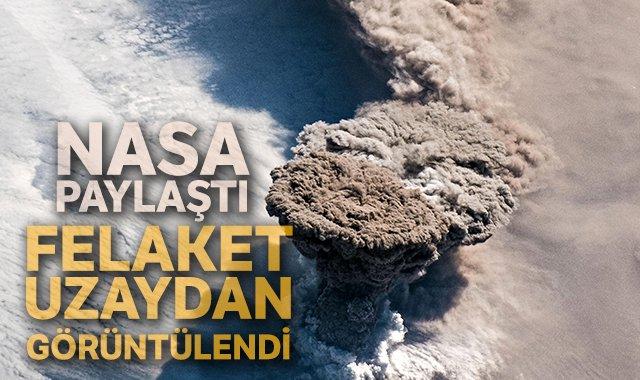NASA paylaştı: Raikoke volkanı patlaması uzaydan görüntülendi https://bit.ly/2LhEbeG