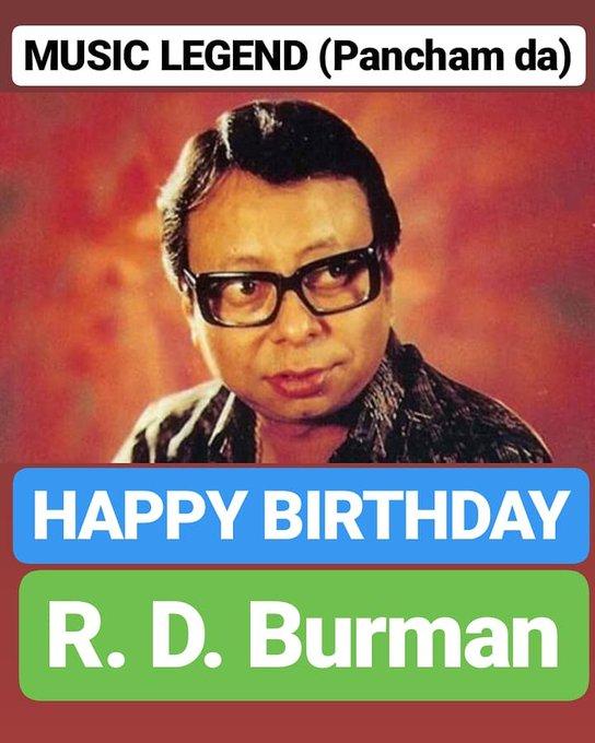 HAPPY BIRTHDAY  R. D. Burman