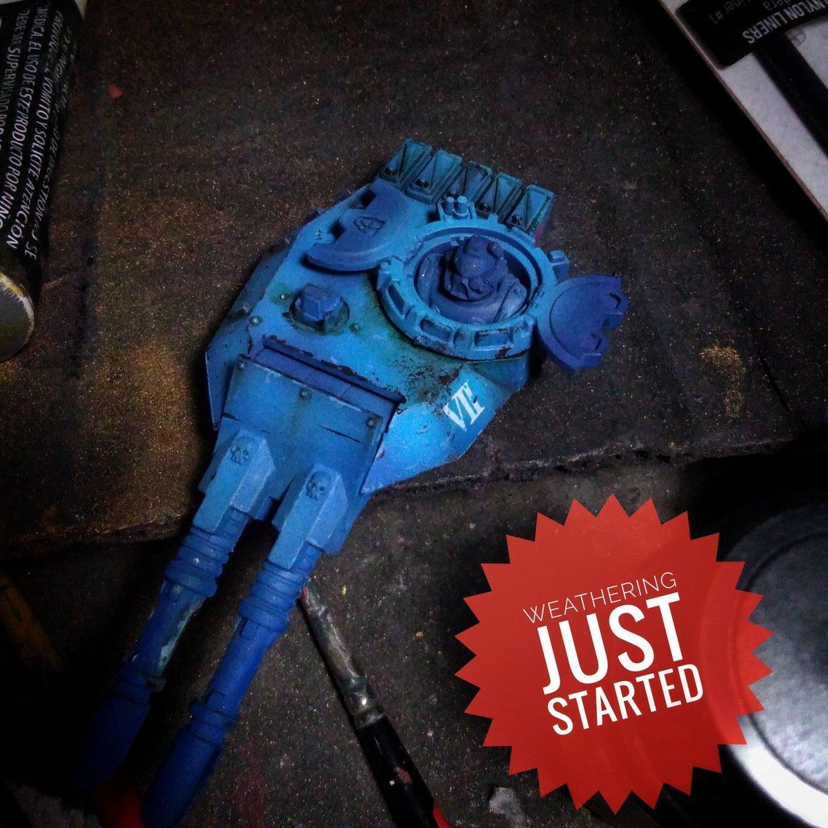#PaintingWarhammer #paint #hobby #gamesworkshop #40k #spacemarines #wip #tank #blue #ultramarine #astartes #predator