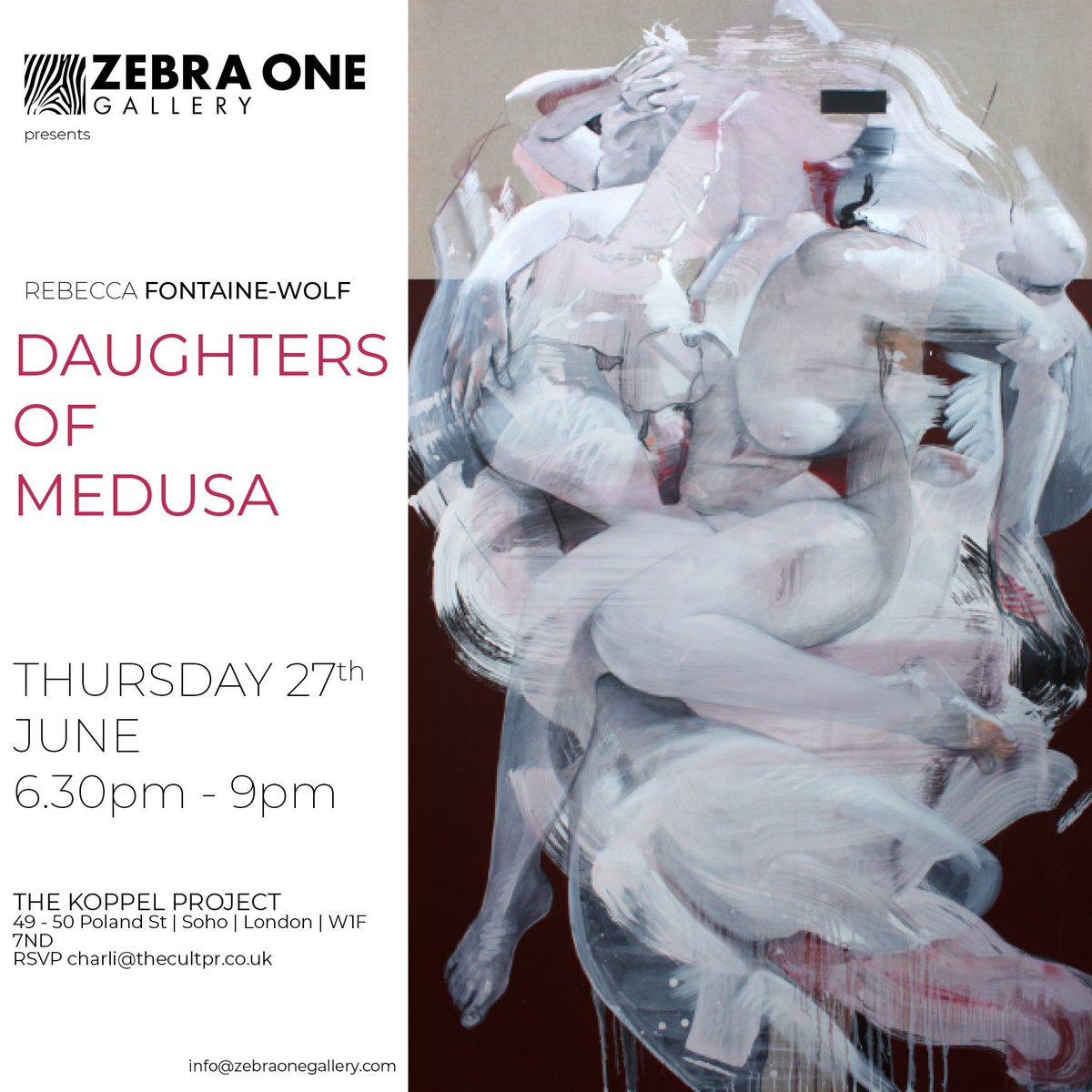 TONIGHT | Daughters of Medusa | Zebra One at Koppel Project | 27th June 2019 - mailchi.mp/c9d819dc7150/d…