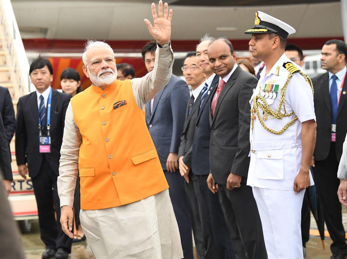 जी-20 बैठक के लिए पीएम @narendramodi जापान के ओसाका में, इंडोनेशिया के राष्ट्रपति और संयुक्त राष्ट्र महासचिव @antonioguterres से करेंगे आज मुलाकात, प्रधानमंत्री भारतीय समुदाय को भी करेंगे संबोधित  #PMModiInJapan #G20Summit