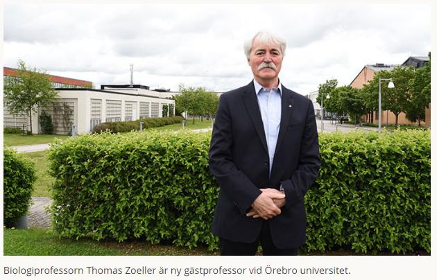 Världsledande professorn Thomas Zoeller blir ny gästprofessor vid Örebro universitet. https://bit.ly/2KCuKah  #forskning @orebrouni @UMass
