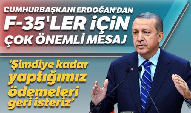 Cumhurbaşkanı Erdoğan'dan F-35'ler için çok önemli mesaj https://www.tgrthaber.com.tr/politika/haber-2650918…