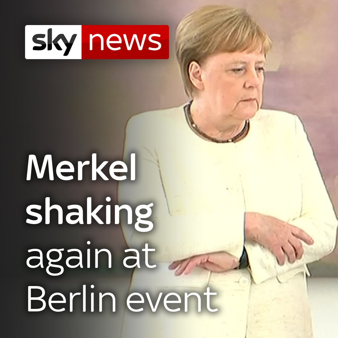 Angela Merkel was shaking at a public event for the second time in less than two weeks, rekindling concerns over her health.  The German chancellor was stood alongside the country's president at a ceremony in Berlin at the time. Read the full story here:  http://po.st/mkdGMg