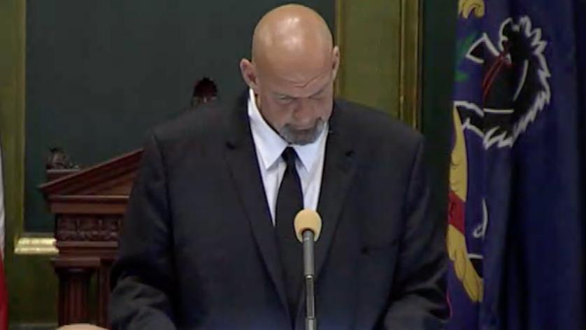 Look who is back presiding over the Senate today – @JohnFetterman