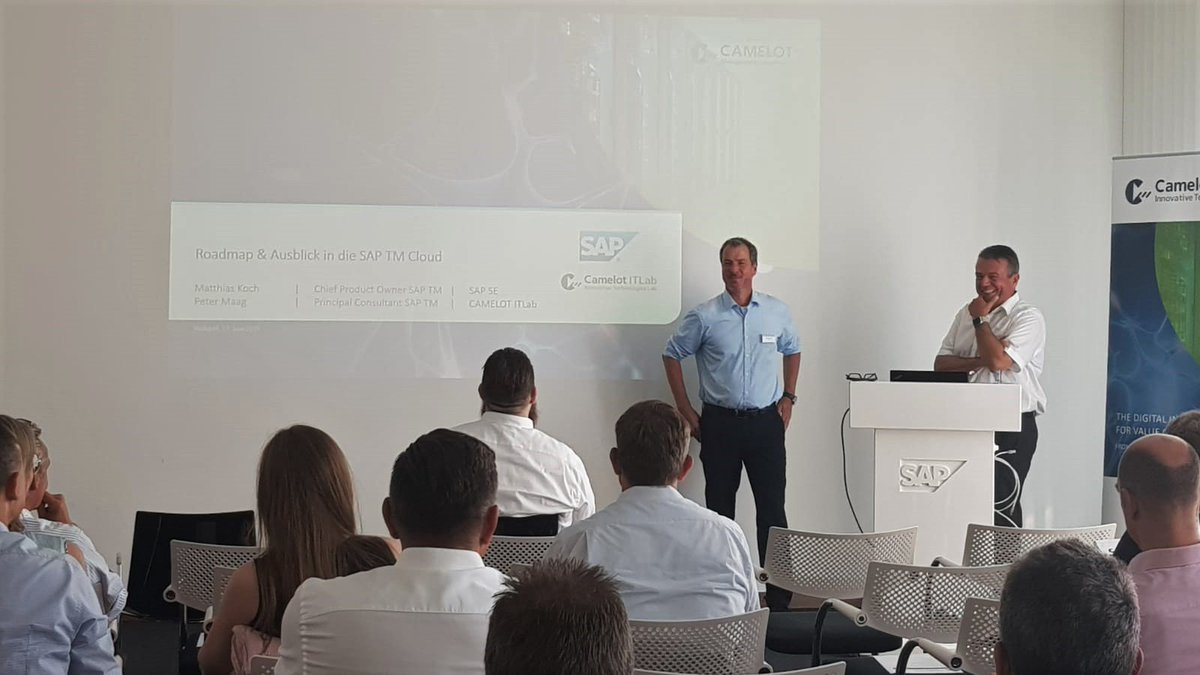 A successful day comes to an end - just listening to the last presentation for today! #SAP expert gives an outlook into the SAP TM Cloud. Many thanks to all participants. See you next time!