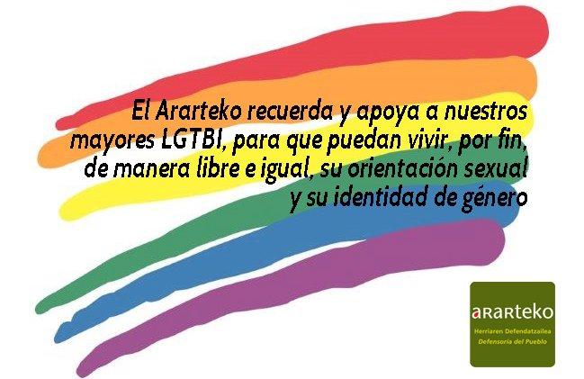 Nos sumamos al movimiento mundial por los derechos #LGTBI recordando especialmente a las personas mayores que han sufrido, en tiempos de ausencia de reconocimiento de sus #derechos, la #invisibilización y el #estigma por su orientación sexual o identidad de género.