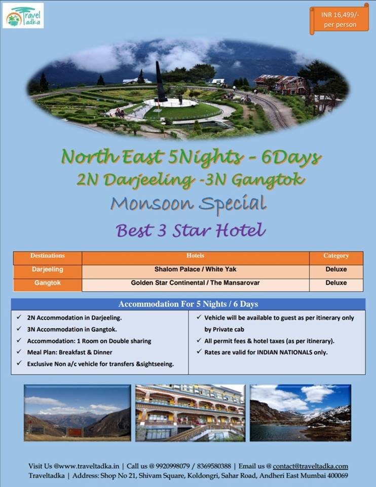 Monsoon special North East package starting from INR:-16499/- Per Person.  For Bookings Call @ 9920998079/ 9892653000  Email us: contact@traveltadka.com    #gatewayofsevensisiters #onehornedrhinoceros #TheAbodeofClouds #LivingRootBridges #GreatHornbill