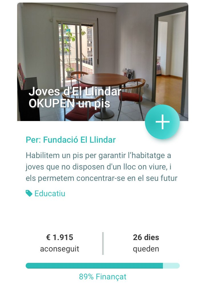 La Fundació El Llindar engega una campanya de micromecenatge per habilitar un habitatge per a joves. El pis tindrà capacitat per a cinc usuaris de la fundació, majors de 18 anys, i estarà gestionat per ells mateixos amb el suport de l'entitat #Cornellà http://www.informatiucomarcal.com/#/noticia/6289