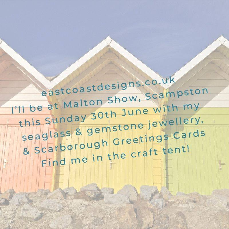 Come and say hello #maltonshow2019 #firstshowoftheseason #seaglassjewellery #labradoritejewellery #mookaitejasper #scarboroughgreetingscardspic.twitter.com/ylXGj9z90L